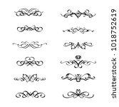 calligraphic border divider... | Shutterstock .eps vector #1018752619