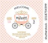 baby shower girl. vector...   Shutterstock .eps vector #1018754599