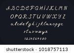 hand lettering alphabet design  ...   Shutterstock .eps vector #1018757113