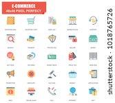 simple set of e commerce... | Shutterstock .eps vector #1018765726