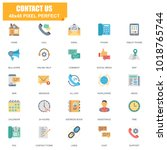 simple set of contact us... | Shutterstock .eps vector #1018765744