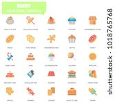 simple set of bakery related... | Shutterstock .eps vector #1018765768