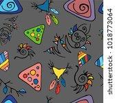 ethnick seamless pattern | Shutterstock .eps vector #1018773064