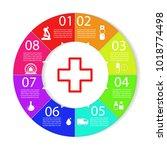 medicine infographics. vector | Shutterstock .eps vector #1018774498