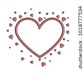 hearts love card icon | Shutterstock .eps vector #1018777534