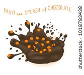 illustration logo ripe berry... | Shutterstock . vector #1018783438