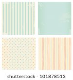 Stock vector collection of vector backgrounds in retro style 101878513