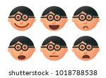 people faces vector designed in ... | Shutterstock .eps vector #1018788538
