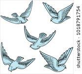 Illustration Of Flying Dove...