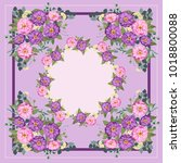 colorful beautiful shawl  scarf ... | Shutterstock .eps vector #1018800088