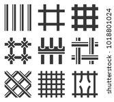 prison bars icons set on white... | Shutterstock .eps vector #1018801024