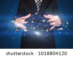 businessman with network... | Shutterstock . vector #1018804120