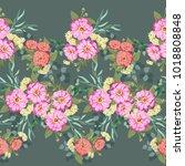seamless border  floral... | Shutterstock .eps vector #1018808848