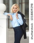 beautiful young stylish woman...   Shutterstock . vector #1018809298