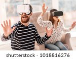 virtual journey. gay appealing... | Shutterstock . vector #1018816276