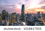 bangkok city   aerial view of... | Shutterstock . vector #1018817503