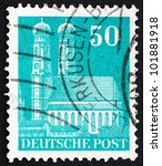 germany   circa 1948  a stamp... | Shutterstock . vector #101881918