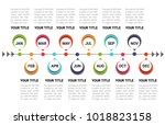 timeline for 12 months  1 year  ... | Shutterstock .eps vector #1018823158