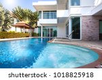 interior and exterior design of ... | Shutterstock . vector #1018825918