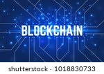 abstract networking blockchain... | Shutterstock .eps vector #1018830733