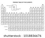 periodic table of elements on a ... | Shutterstock .eps vector #1018836676