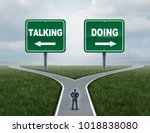 motivation concept as a courage ... | Shutterstock . vector #1018838080