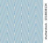 Seamless zig zag pattern. Chevron geometric endless swatch. Simple graphic design element. Scrapbooking, room wallpaper, flyer, poster, web site backdrop. Modern stylish texture. Vector illustration | Shutterstock vector #1018838134