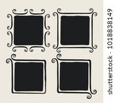 frames with whimsical swashes.... | Shutterstock .eps vector #1018838149