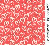 seamless heart pattern. hand...   Shutterstock .eps vector #1018838254