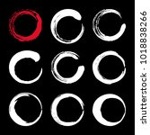 set of hand painted ink circles.... | Shutterstock .eps vector #1018838266