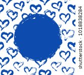 hearts card template | Shutterstock .eps vector #1018838284