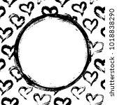 hearts card template | Shutterstock .eps vector #1018838290