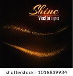 yellow sparks and stars shine...   Shutterstock .eps vector #1018839934