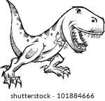 tyrannosaurus dinosaur doodle...   Shutterstock .eps vector #101884666