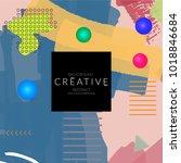 minimal universal banner... | Shutterstock .eps vector #1018846684