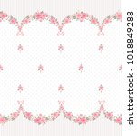 seamless pattern with garlands... | Shutterstock .eps vector #1018849288