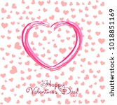 greeting card with st.... | Shutterstock .eps vector #1018851169