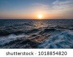 seascape at sunset   Shutterstock . vector #1018854820