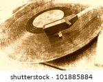 Music Background  Vinyl Player...