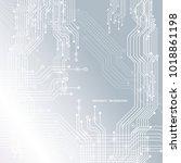 circuit board  technology... | Shutterstock .eps vector #1018861198