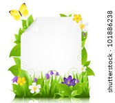 paper with flowers and leaves ... | Shutterstock .eps vector #101886238