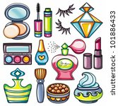 make up icon set part 1  face... | Shutterstock .eps vector #101886433