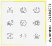 auto parts line icon set airbag ... | Shutterstock .eps vector #1018865776