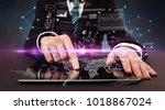 businessman in formal attire...   Shutterstock . vector #1018867024