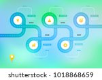 layered infographic timeline....   Shutterstock .eps vector #1018868659
