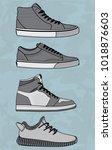 vector sneakers  vector eps 10 | Shutterstock .eps vector #1018876603
