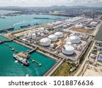 aerial view of the map ta phut... | Shutterstock . vector #1018876636