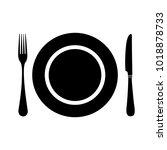 restaurant vector icon | Shutterstock .eps vector #1018878733