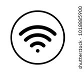 wifi icon in circle   Shutterstock .eps vector #1018885900