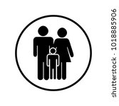 family icon in circle | Shutterstock .eps vector #1018885906